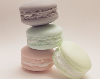 SOAP - Macaroon soap - glycerin soap - single pack - triple pack - scented soap - mintcloud - organic - natural