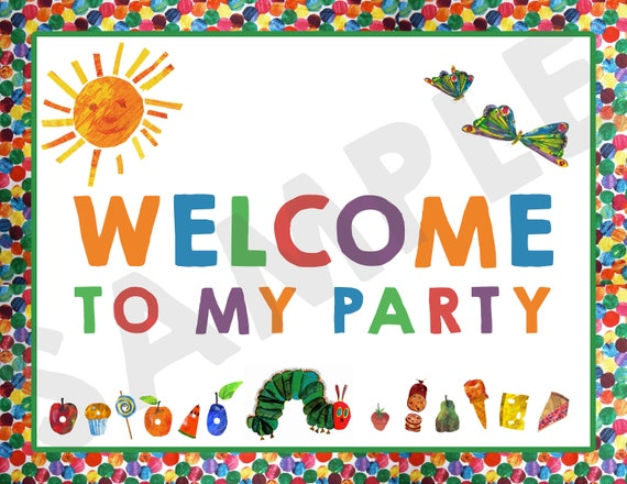 photograph relating to Printable Welcome Home Signs identified as Printable Welcome Thank Oneself Indications - Hungry Caterpillar