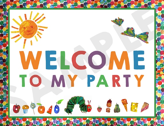 photo about Printable Welcome Home Signs named Printable Welcome Thank Your self Signs and symptoms - Hungry Caterpillar