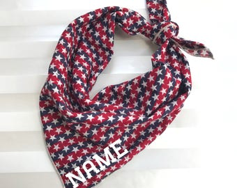 Personalized Dog Bandana - Stars and Stripes // Dog Bandana // Personalized Bandana //July 4th Dog Bandana // Pet Bandana