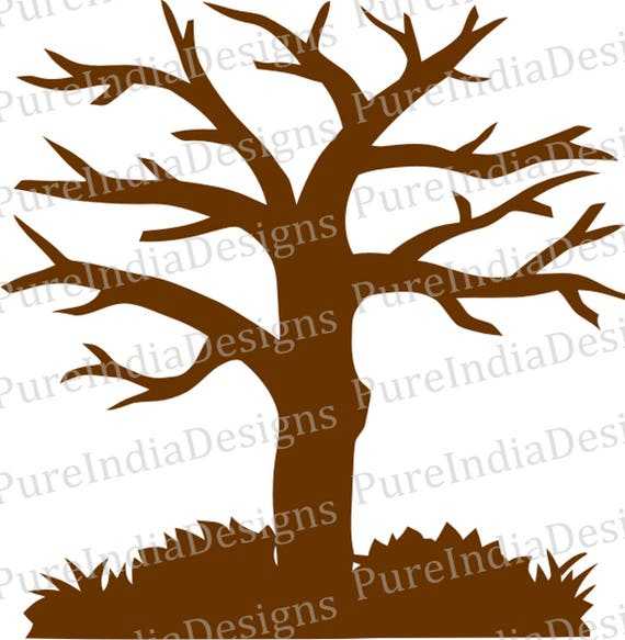 Tree SVG Paper Cut Template EPS DXF Digital Cutting File