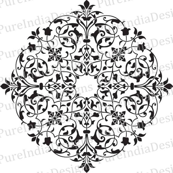 Arabesque svg Arabic Mandala Medallion Stencil EPS DXF | Etsy