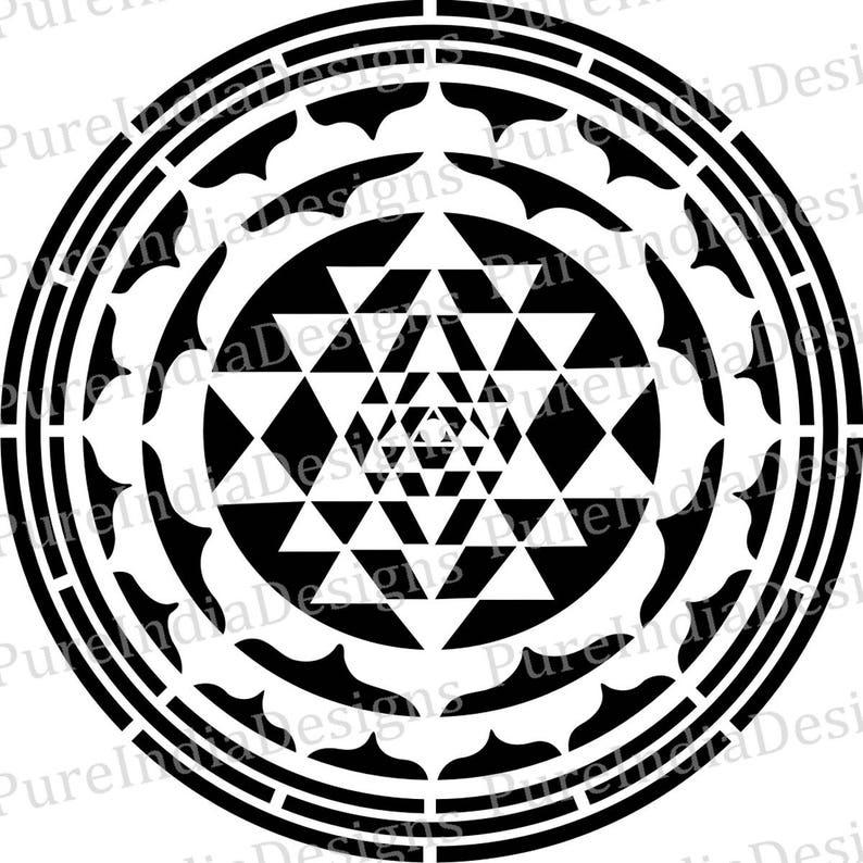 Sri Yantra Mandala | Wall Art | Sacred Geometry | Vector art, Cricut,  Silhouette Cameo instant download, Laser, Digital Cut, Svg, DXF, EPS,