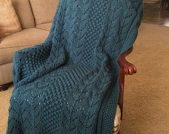 Knitted Afghan Throw Blanket