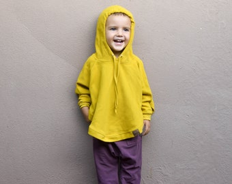 1062273b572 Organic Hooded Poncho in 3 colours | Baby Girl Boy Toddler Sweater | Unisex  Kids Pullover |Kids Sweater | Kids Top|Organic baby kids clothes