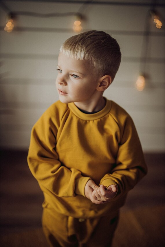 Unisex Kids Slouchy Jumper  Kids Sweater Organic Terry Pullover-3 colours Organic cotton kids Baby Girl Boy Toddler Sweater Kids Top