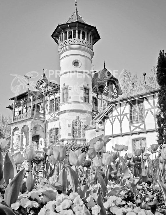 Coloring Book Castles Coloring Pages For Adults Grayscale Etsy