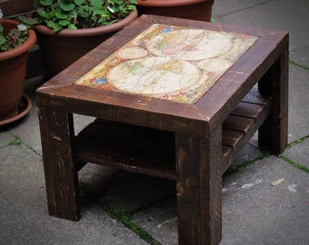 Stupendous Map Coffee Table Etsy Home Remodeling Inspirations Propsscottssportslandcom