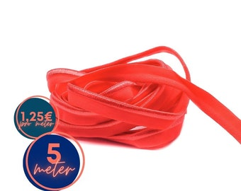 5 m piping ELASTISCH - red TORCH -9 mm - matt and glossy (1,25eur/meter)