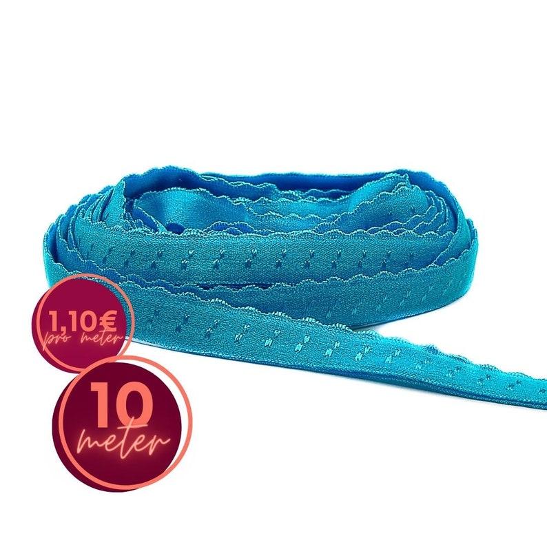 10 m folding rubber SPITZE  blue HOWLITH  folded image 0