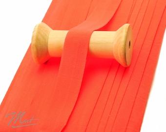 3 m folding rubber MATT - NEON-ORANGE - 20 mm (1.20 eur / meter)