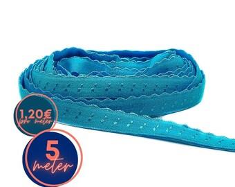 5 m folding rubber SPITZE - blue HOWLITH - already folded (1,20eur/meter)