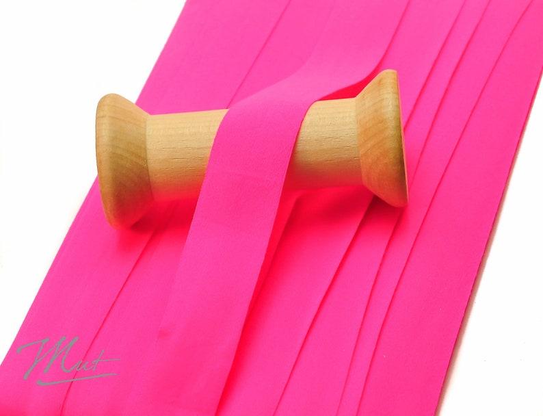 3 m folding rubber MATT  NEON-PINK  20 mm 1.20 eur / meter image 0