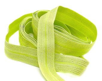 3 m folding rubber JACQUARD - LIND GREEN bright - 20 mm (1.40 eur / meter)
