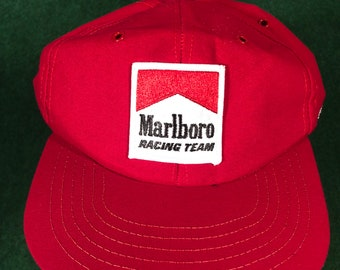 117c3e5a78f Marlboro racing cigarettes red snapback hat