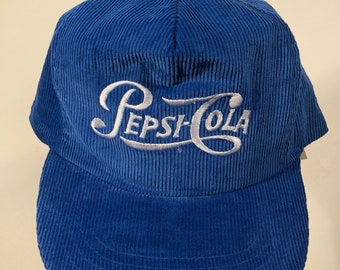 c20ead10063 Vintage pepsi cola corduroy snapback hat