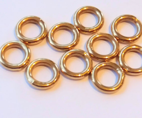 "5x-9ct Rose Gold Jump Ring Heavy/""Open/"" 5mm Findings-Jump Rings-Jewellery Making"