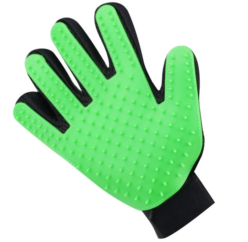 Dogs /& Horses FREE Shipping Enhanced Five Finger Design Pet Grooming Gloves For Cats Left AND Right Your Pet Will Love It