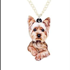 Yorkie Yorkshire Terrier Puppy Dog Musical Instrument Wine Glass Charm Marker
