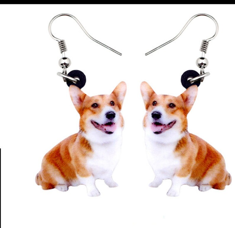 Corgi Dog Charm Keyring Metal Key Ring Chain Bag Silver//Gold Tone Welsh Choice
