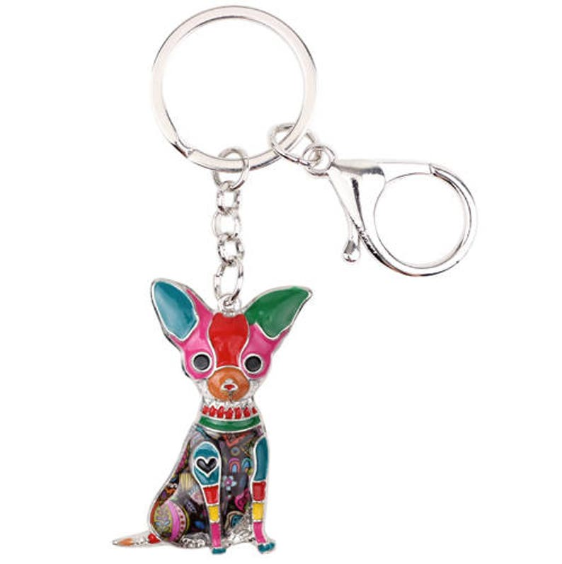 Chihuahua Jewelry - Chihuahua KeyChain- Chihuahua Art - Chihuahua  Watercolor - Chihuahua Figurine- Mother's Day - Christmas FREE Shipping
