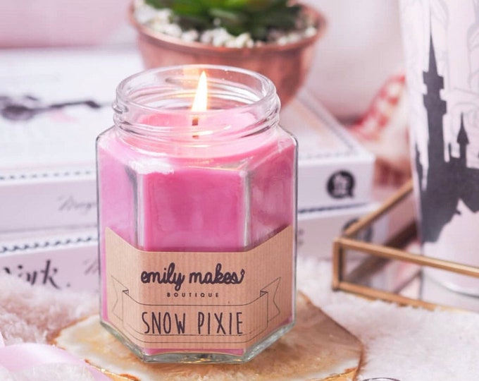 Snow Pixie (Inspired) Scented Soy Wax 'Original Jam Jar Candle' / Small & Medium Available / Vegan-Friendly / Gift