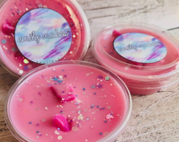 Unicorn Fluff Scented Soy Wax 2oz Shot Pot Melt For Wax Warmers / Gift