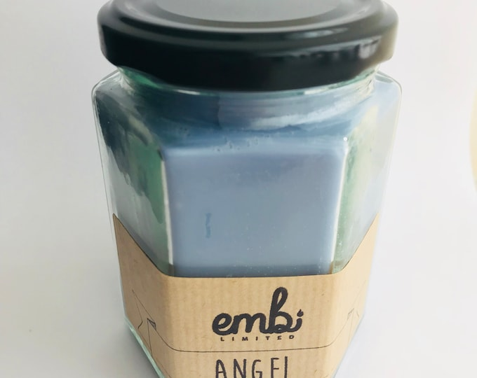 Angel (Perfume Inspired) Scented Soy Wax Jam Jar Candle / Small & Medium Available / Vegan-Friendly / Gift