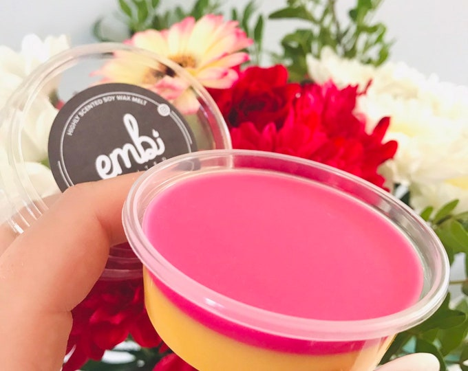 Pink Lemonade Scented 2oz Shot Pot Soy Wax Melt For Wax Warmers / Gift