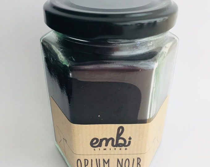 Black Opium (Perfume Inspired) Scented Soy Wax Jam Jar Candle / Small & Medium Available / Vegan-Friendly / Gift