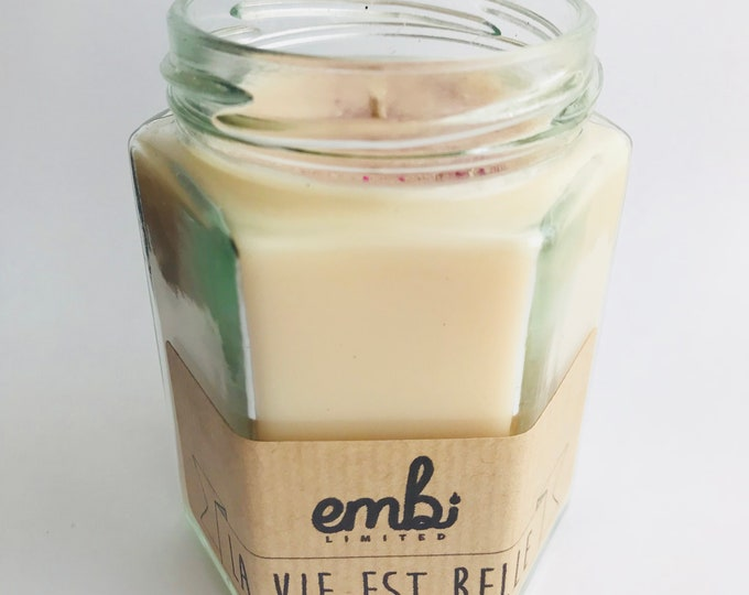 La Vie Est Belle (Perfume Inspired) Scented Soy Wax Jam Jar Candle / Small & Medium Available / Vegan-Friendly / Gift
