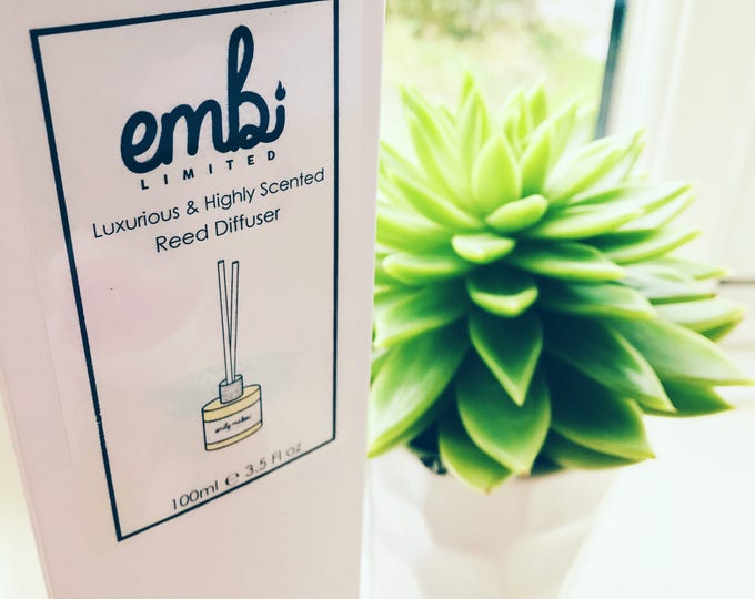 100ml Reed Diffuser / 45+ Scents Available / Highly Scented / Lasts Upto 3 Months