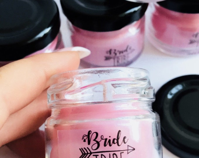 Personalised Bride Tribe Soy Wax 'Ted Shot' Candle / Choose Your Fragrance / Choose Your Colour / 1.5oz / 8 Hours Burn Time / Wedding Favour