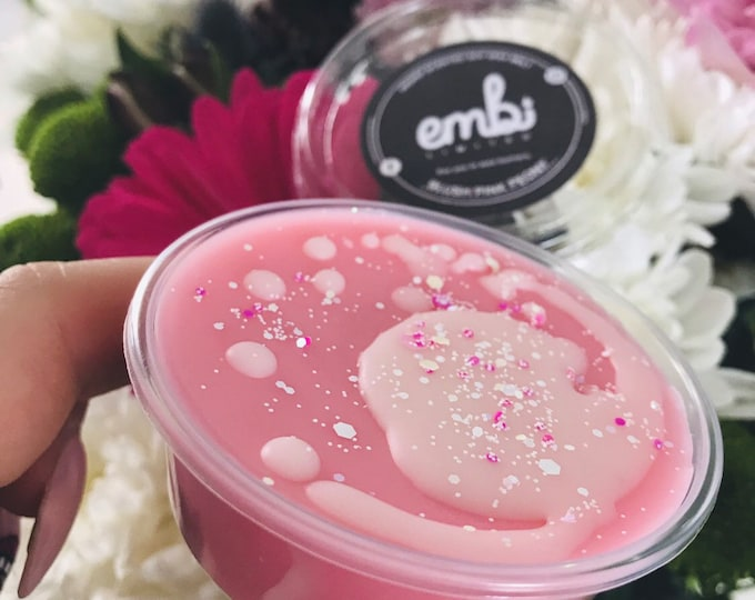 Blush Pink Peony (JM Inspired) Scented Soy Wax 2oz Shot Pot Melt For Wax Warmers / Gift / Floral