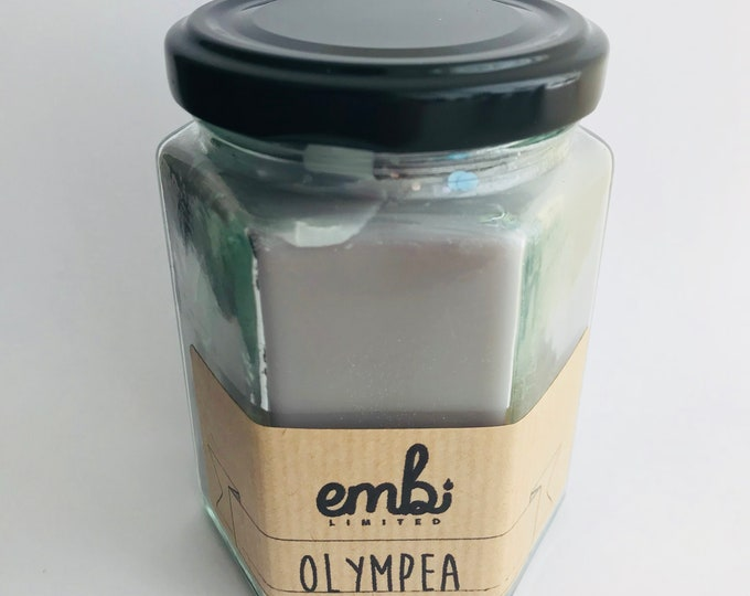 Olympea (Perfume Inspired) Scented Soy Wax Jam Jar Candle / Small & Medium Available / Vegan-Friendly / Gift
