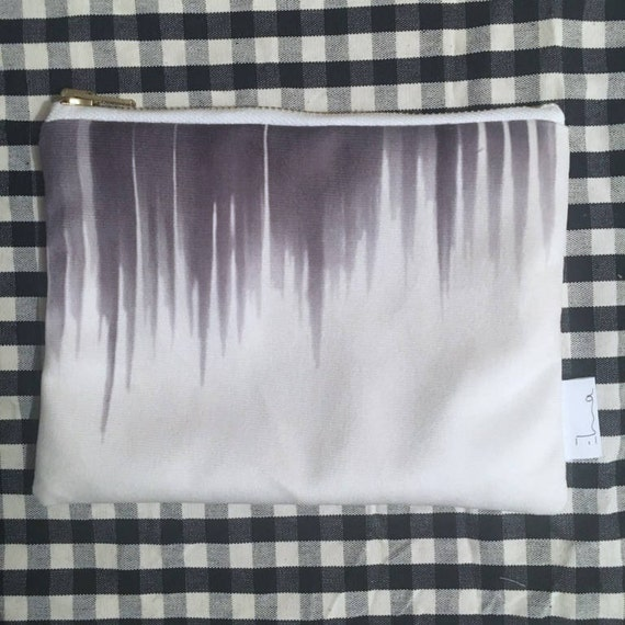 S exclusive Elma - forest printed velvet pouch