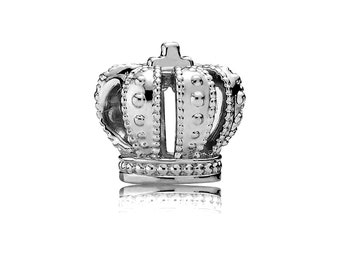 Royal Crown Silver Plated Dangling Charm Bead For European Style Charm Bracelets Fashion Jewelry Jewelry & Watches