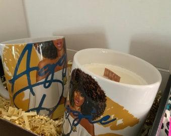 Aggie Pride 10 OZ  Coffee Mug and Handpoured Candle Gift Set