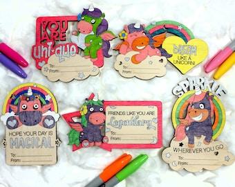Unicorn Friendship Cards  - Paint - DIY