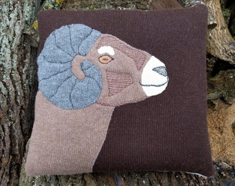 "100% Pure Alpaca Wool (front) Cushion Cover, including Pillow 18""x18"""
