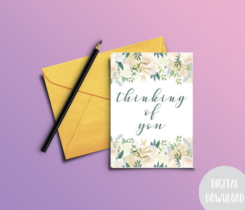 photograph regarding Printable Thinking of You Card titled Printable Pondering Of Yourself Card - Sympathy Card Printable - Electronic Down load