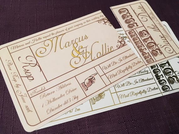 vintage theatre ticket wedding invitation cinema invitation etsy