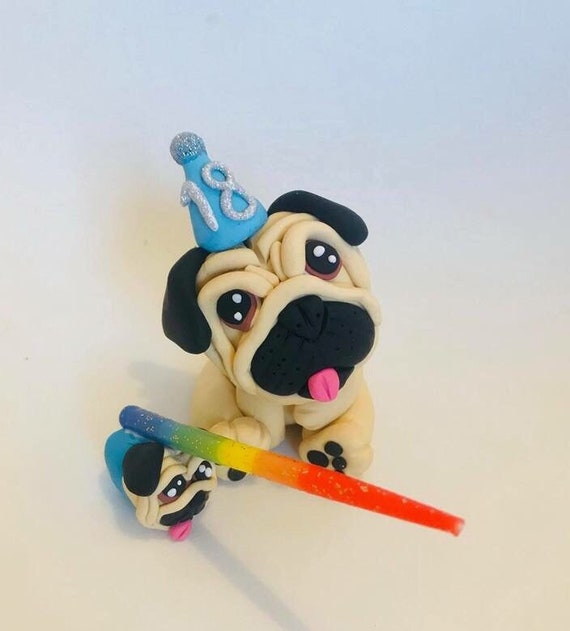 Pug Cake Topper Wedding Cake Topper Pug Wedding Pug Cake Unipug Pug Gift Pug Party Pug Gift Pig Australia