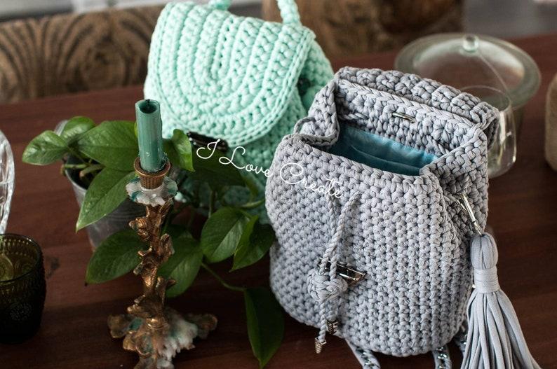 Crochet backpack pattern Cruise backpack video tutorial Easy