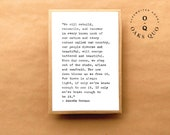 Amanda Gorman Typewriter Quote 4x6