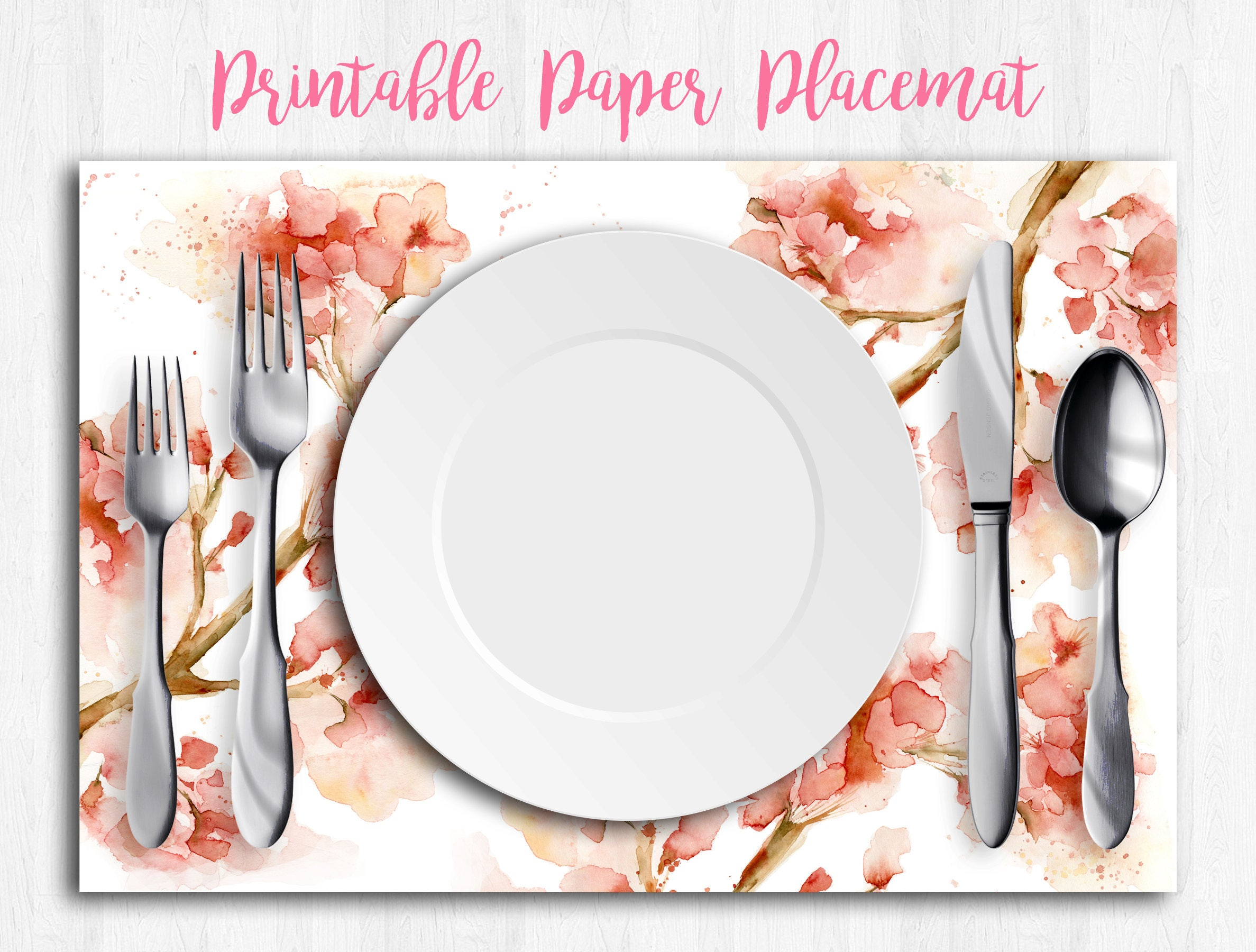 flower paper placemats downloadable prints top selling