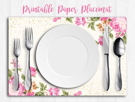 Wedding Placemats Paper Placemats Disposable Placemats Etsy