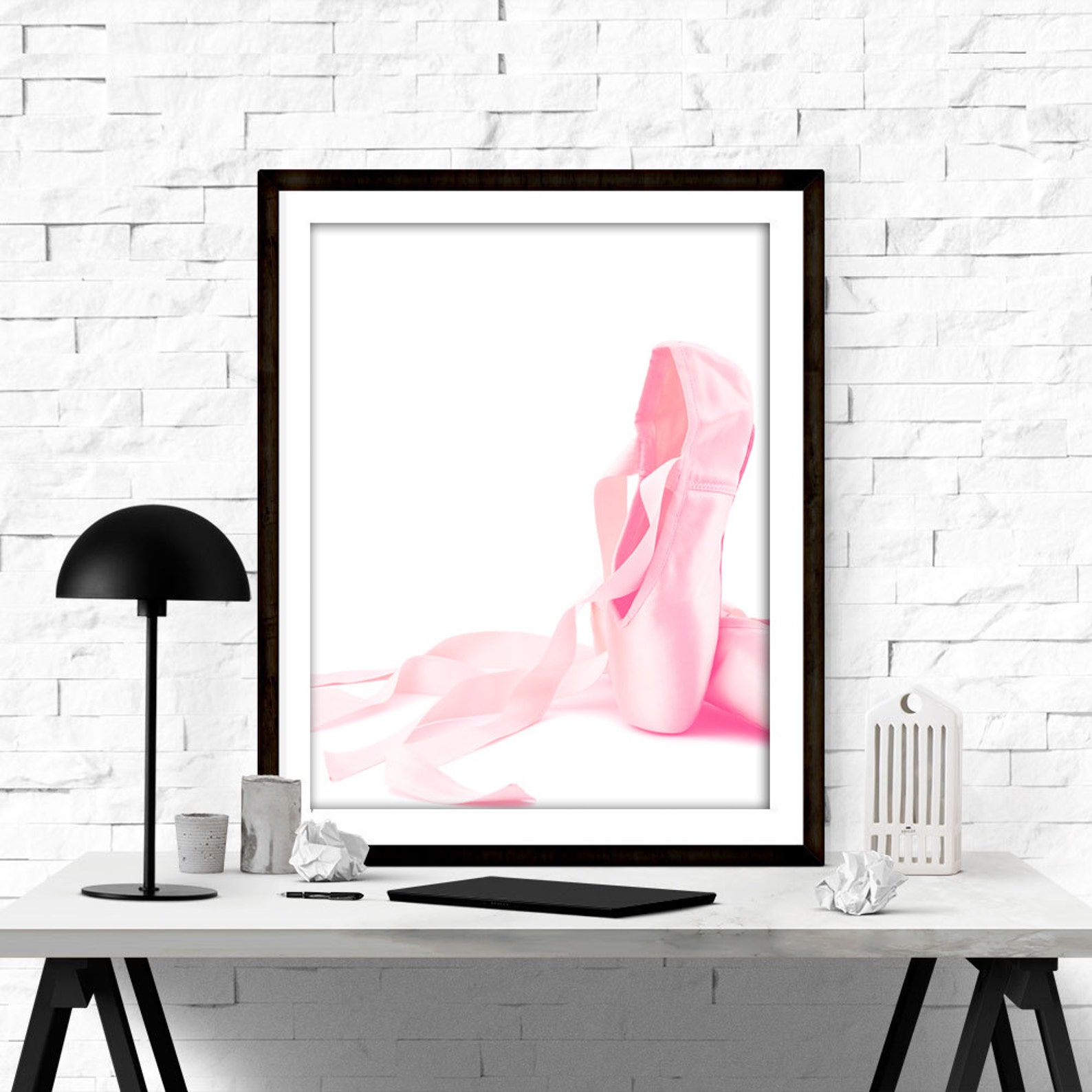 ballet shoes print, ballerina print, ballet print, ballerina decor, ballerina wall art, ballet poster, ballet studio decor, baby