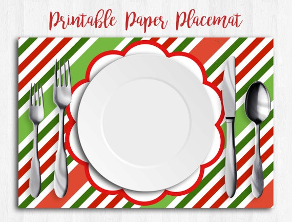 image about Printable Placemats called Xmas Placemats, Least difficult Placemats, Paper Placemats, Xmas Desk Runner, Printable Placemats, Xmas Napkins, Xmas Tablecloth