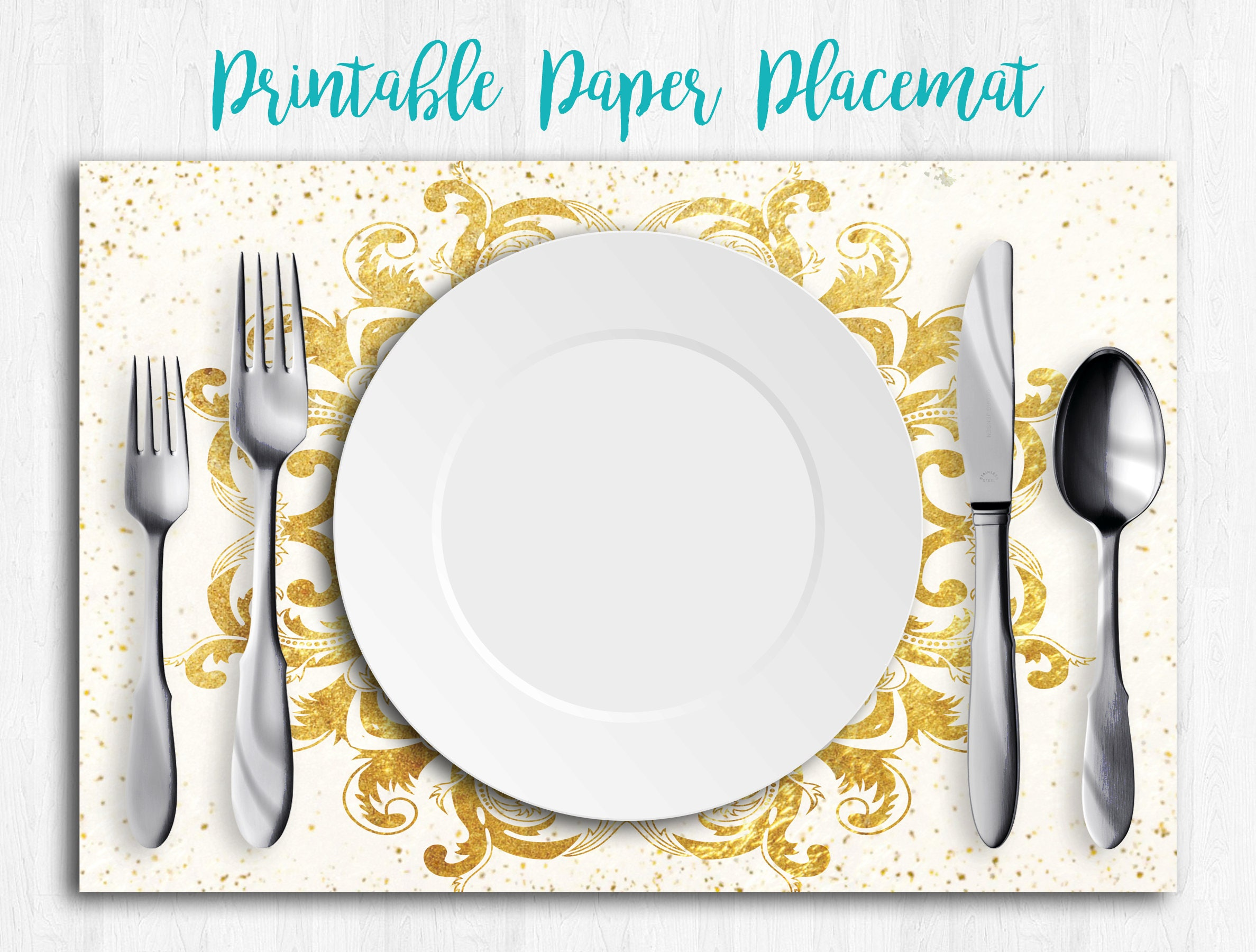 Goldpapier Tischsets Gold Tischläufer Hochzeit Tischsets   Etsy
